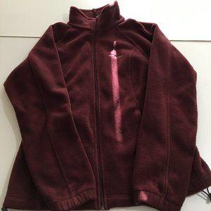 Columbia Mens Medium Maroon Full Zip Fleece Jacket